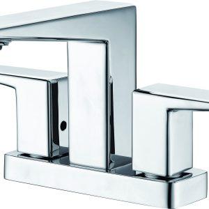 ALFI brand AB1020-PC Polished Chrome Two-Handle 4'' Centerset Bathroom Faucet