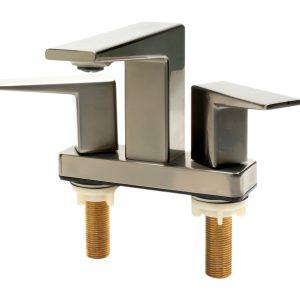 ALFI brand AB1020-BN Brushed Nickel Two-Handle 4'' Centerset Bathroom Faucet